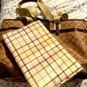 Gently Loved Coach Diaper / laptop bag
